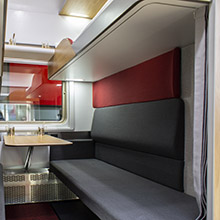 Ippiart Studio presented the mockup of the new Russian Railways second-class night train