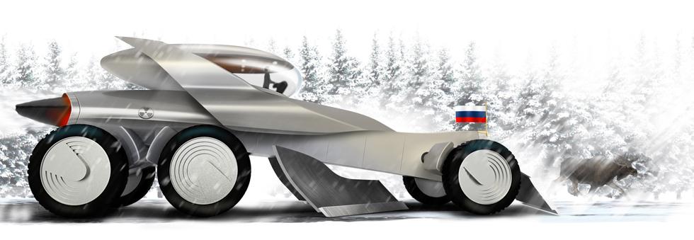 Атомный грейдер русского царя для Top Gear
