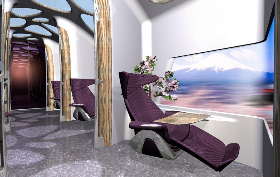 Салон первого класса высокоскоростного поезда Bombardier The Tree