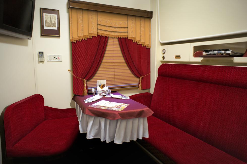 Интерьер поезда повышенной комфортности «Гранд Экспресс»