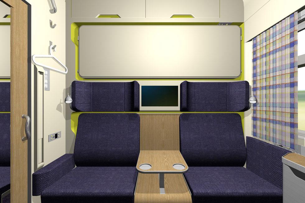 Superior train compartment for Sloplast